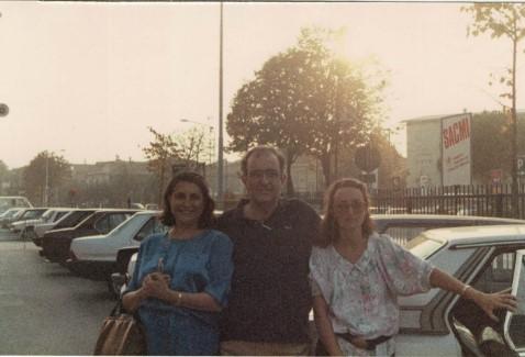 Giovanni de Simone con Eliana e Susanna alla Tecno Argilla di Rimini